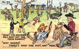 wes000429 - Western Cowboy, Cowgirl Postcard Postcards