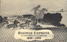 wes000430 - Railway Express Western Cowboy, Cowgirl Postcard Postcards