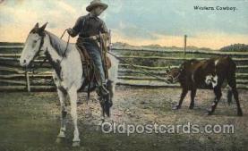 wes000441 - Western Cowboy Western Cowboy, Cowgirl Postcard Postcards