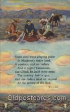 wes000451 - Western Cowboy, Cowgirl Postcard Postcards