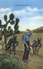 wes000452 - Desert Prospector   Western Cowboy, Cowgirl Postcard Postcards