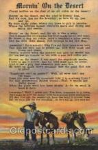 wes000455 - Moring on the Desert Western Cowboy, Cowgirl Postcard Postcards
