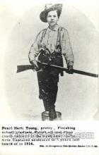wes000458 - Pearl Hart Western Cowboy, Cowgirl Postcard Postcards