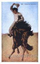 wes000464 - Doing the Corksrew Western Cowboy, Cowgirl Postcard Postcards
