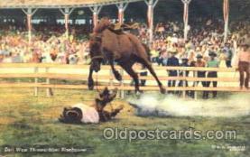 wes001279 - Earl West Thrown ftom Bluebonnet, Western, Cowboy, Cowgirl, Postcard Postcards