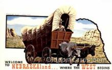 wes001287 - Nebraskaland,  Where the west begins, Western, Cowboy, Cowgirl, Postcard Postcards
