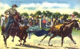 wes001288 - Pueblo, Colorado, Western, Cowboy, Cowgirl, Postcard Postcards