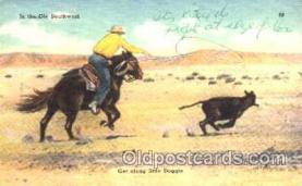 wes001289 - Western, Cowboy, Cowgirl, Postcard Postcards