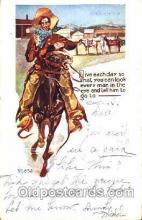 wes001330 - Western, Cowboy, Cowgirl, Postcard Postcards