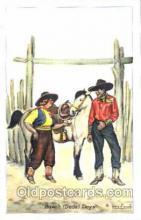 wes001356 - Western, Cowboy, Cowgirl, Postcard Postcards