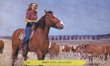 wes001405 - Boise City, Oklahoma, USA Western Cowgirl Postcard Postcards