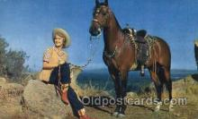 wes001411 - Western Cowgirl Postcard Postcards