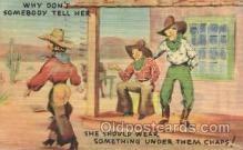 wes001426 - Western Cowgirl Postcard Postcards