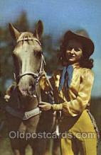 wes001449 - Western Cowgirl Postcard Postcards