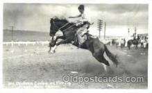 wes002044 - Oklahoma Culrley on Fire Fly, Pikes Peak Rodeo, Real Photo Western Cowboy Postcard Postcards