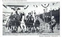 wes002046 - Ray Ramsey Lassoing Five Racing Rodeo Horses, Real Photo Western Cowboy Postcard Postcards