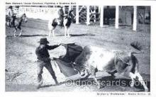 wes002051 - Sam Stewart, Texas Cowboy, Fighting a Brahma Bull, Real Photo Western Cowboy Postcard Postcards