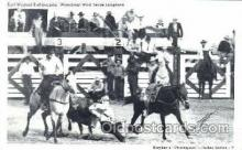 wes002053 - Earl Wofford Bulldogging, Real Photo Western Cowboy Postcard Postcards