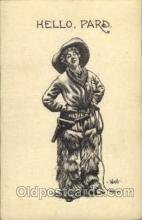 wes002072 - Artist Wall, Cowgirl, Cowgirls, Western Postcard Postcards