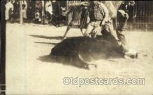 wes002101 - Homer Rodek Bulldogging,  Rodeo, Western Cowboy, Cowgirl Postcard Postcards
