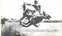 wes002102 - Reproduction, Al Walkenson Leaving Torpedo, Western Rodeo Cowboy, Cowgirl Postcard Postcards
