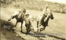 wes002104 - Steer Bulldogging, Pendleton Round - Up Western Rodeo, Cowboy, Cowgirl Postcard Postcards