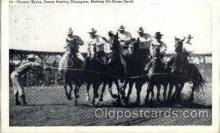 wes002107 - Chester Byers, Fancy Roping Champion, Making Six-Horse Catch Western Rodeo Cowboy, Cowgirl Postcard Postcards