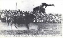 wes002112 - Pancho Villa Tossed By Braman Bull Western Rodeo Cowboy, Cowgirl Postcard Postcards