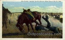 wes002136 - Bucking Broncho Western Postcard Postcards