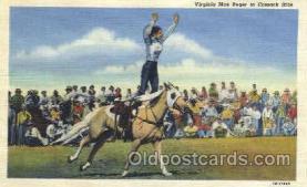 wes002192 - Virginia Mae Reger Western Cowboy, Cowgirl Postcard Postcards