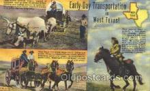 wes002201 - Transportaion in West Texas Western Cowboy, Cowgirl Postcard Postcards