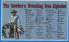 wes002219 - Cowboy's Branding Alphabet Western Cowboy, Cowgirl Postcard Postcards