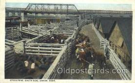 wes002220 - Stock Pens in Omaha, Nebraska Western Cowboy, Cowgirl Postcard Postcards