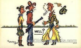 wes002222 - Western Cowboy, Cowgirl Postcard Postcards