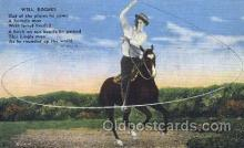 wes002231 - Will Rogers Western Cowboy, Cowgirl Postcard Postcards