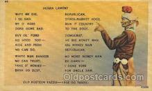 wes002234 - Indian Lament Western Cowboy, Cowgirl Postcard Postcards