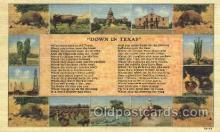wes002236 - Down in Texas Western Cowboy, Cowgirl Postcard Postcards