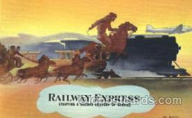 wes002247 - Railway Express Western Cowboy, Cowgirl Postcard Postcards