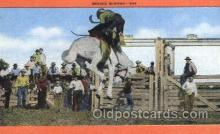 wes002251 - Rodeo Scene Western Cowboy, Cowgirl Postcard Postcards