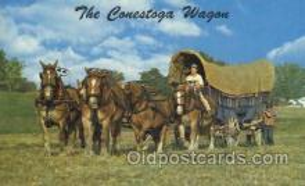 wes002256 - Canestaga Wagon Western Cowboy, Cowgirl Postcard Postcards