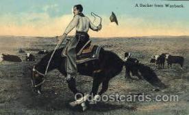 wes002301 - Western Cowboy, Cowgirl Postcard Postcards