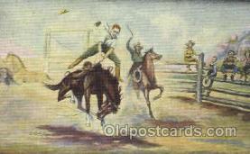 wes002308 - Western Cowboy, Cowgirl Postcard Postcards