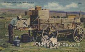 wes002309 - Chuck Wagon Western Cowboy, Cowgirl Postcard Postcards