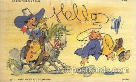wes002312 - Western Cowboy, Cowgirl Postcard Postcards