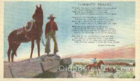 wes002324 - Cowboy's Prayer Western Cowboy, Cowgirl Postcard Postcards