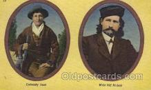 wes002330 - Calamity Jane & Wild Bill Hickok Western Cowboy, Cowgirl Postcard Postcards