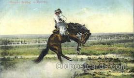 wes002331 - Cowboy Riding Bronco Western Cowboy, Cowgirl Postcard Postcards