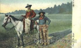 wes002332 - Cowboys  Western Cowboy, Cowgirl Postcard Postcards
