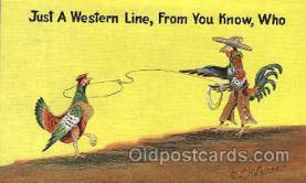 wes002335 - Western Cowboy, Cowgirl Postcard Postcards