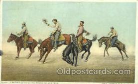 wes002344 - Cowboys Riding Broncos Western Cowboy, Cowgirl Postcard Postcards
